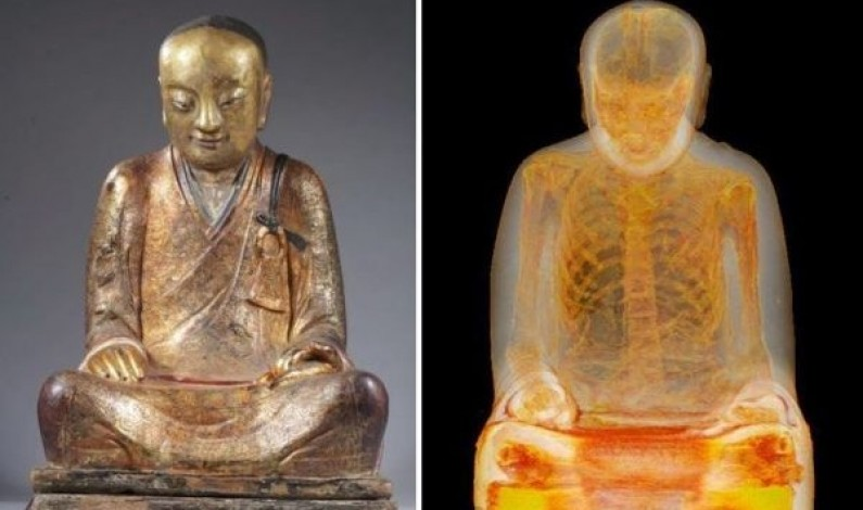 Buddha Statue Discovered To Contain The Mummified Remains of A Monk From 1100AD