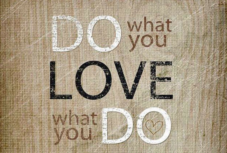 Do What You Love, The Money Will Follow