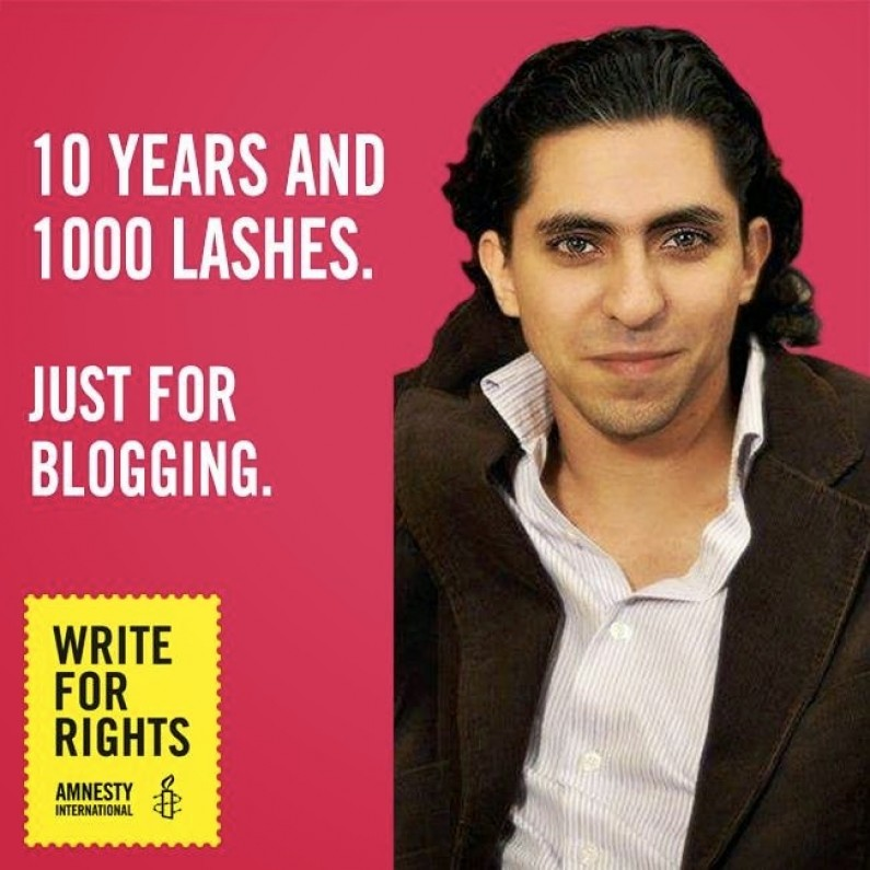 Raif Badawi: Saudi Arabia publicly flogged liberal blogger and activist accused of 'insulting Islam'