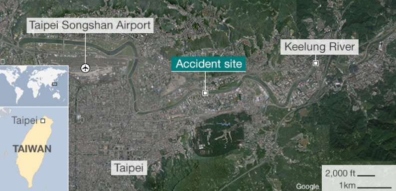 Taiwan TransAsia Plane Crashes Into River